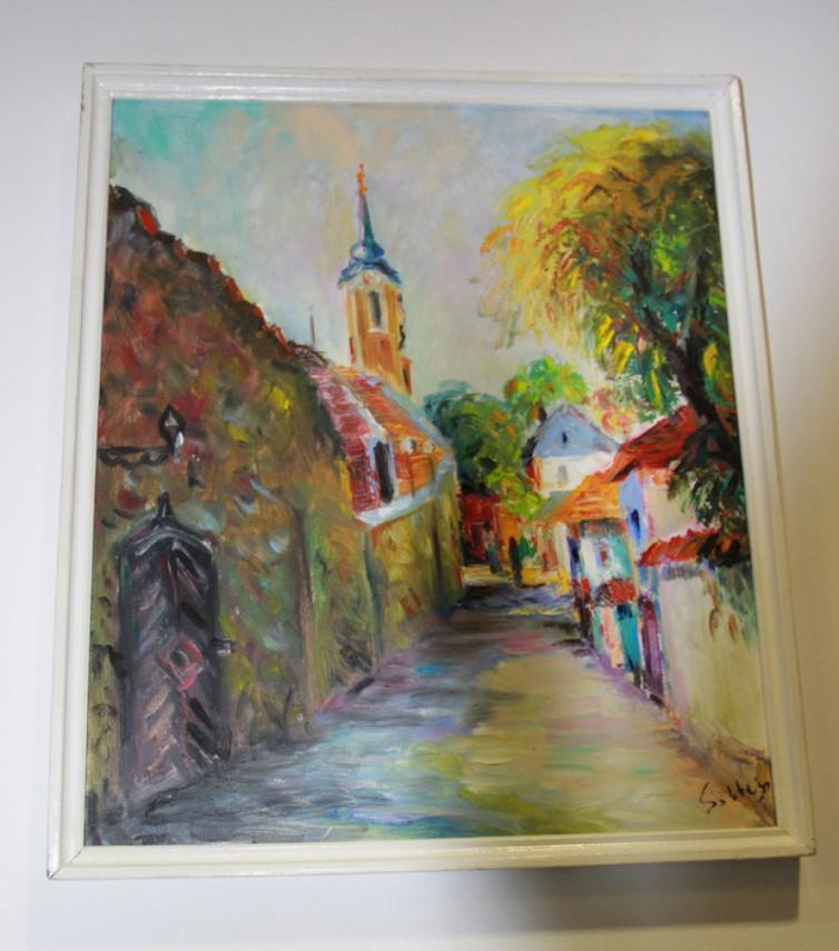 Видатний ужгородський художник Петро Шолтес експонував персональну виставку у Генконсульстві Угорщини