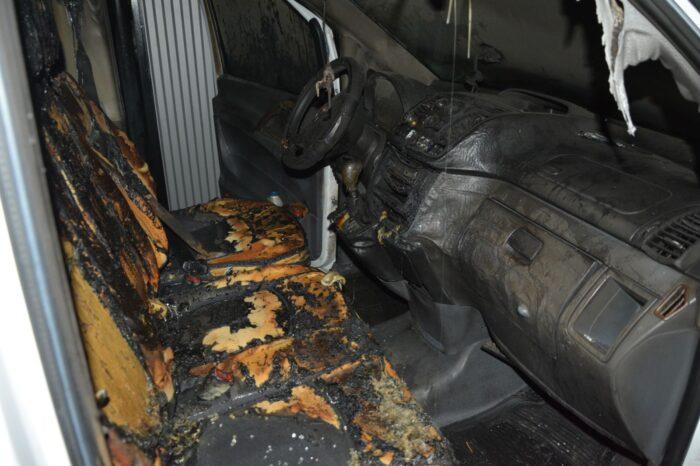 Поліція розслідує підпал автомобіля в Тячеві (ФОТО)