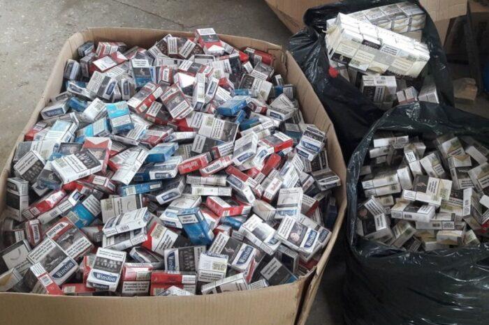 Румунські прикордонники вилучили 7500 пачок цигарок, які припливли по Тисі з боку Бедевлі