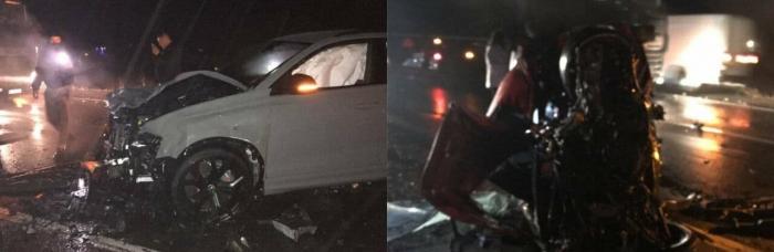 Нічна ДТП на Ужгородщині: у зіткненні 3-х авто загинув один з водіїв
