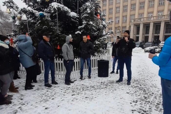 В обласному центрі Закарпаття мітингували проти підвищення тарифів на газ та електроенергію