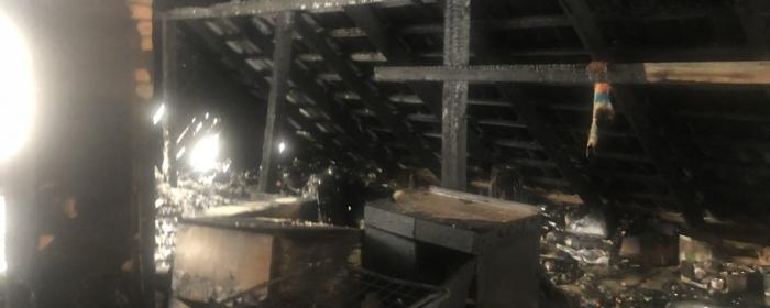 На Закарпатті у двоповерхівці зайнялася пожежа