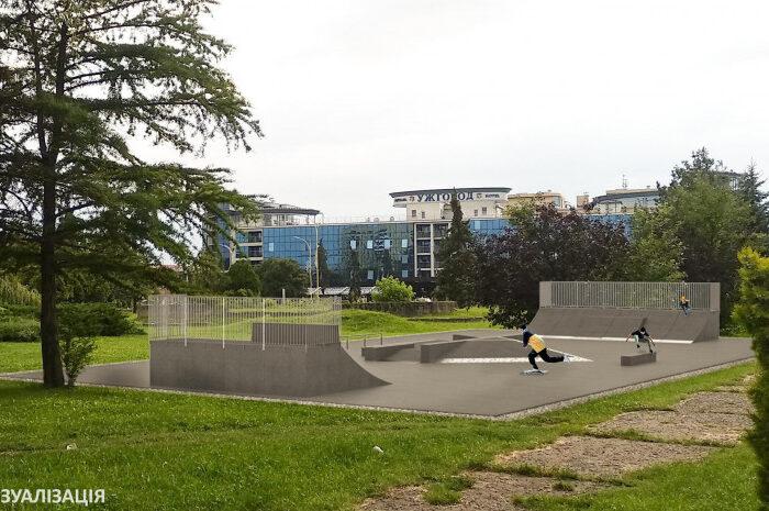 В Ужгороді облаштовують майданчик для катання на скейтбордах та роликах (ПРОЄКТ)